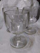 Vintage Heavy Clear Thumbprint Goblet Glasses (set of 3)