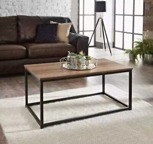 New Wooden Top And Metal Frame Tromso Contemporary Coffee table
