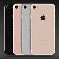 2x iPhone 8 Schutzfolie 3D Carbon Efekt Folie Rückseite Transparent PET Folie