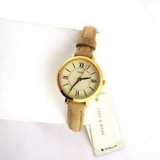 Fossil Womens ES3802 Mini Jacqueline Rose Stainless Leather Band Quartz Watch