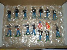 BRITAINS lead soldier lot x14 MARINES flag bearers Timpo Corgi Airfix Matchbox