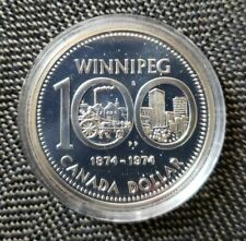 Canada 1974 Specimen Silver Dollar Winnipeg Centennial UNC In Original Capsule