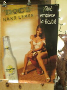 DOC'S HARD LEMON - Que Empiece la Fiesta! - sexy girl w/ conga drum   POSTER EX