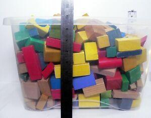 HUGE 7.50 Kg Job Lot Vintage Toy Wooden Assorted Building Blocks 280 Blocks