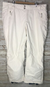 Columbia Snowboard Ski Pants Winter White Womens sz 2X