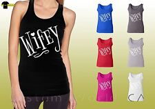 Wifey Graphic Shirts Tops WIFE Shirts wife graphic White design Ladies Tank Top