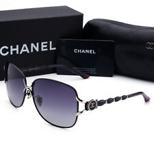 Sunglasses-Polarized¹Chanel⁸Black Frame Double Gray Chip Lens