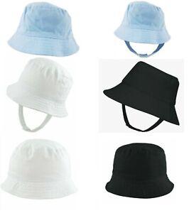 Baby Sun Hat Summer Cotton Bucket Wide Brim Floppy Hats Boy Girl Toddler 0-10Yrs