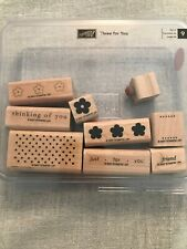 Stampin Up Three For You Set Of 9 Wood Mounted Rubber Stamp Su Scrapbooking 2007
