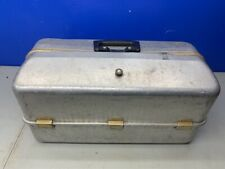 Vintage 1950s UMCO 1060A  Aluminum Fishing Tackle Box Fold Out Trays Made in USA