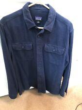 PATAGONIA Organic Cotton Navy Blue Chamois Shirt Size Medium NICE CONDITION
