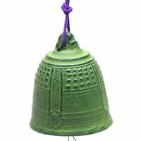Japanese Iron Wind Chime Green Temple Bell Made in Japan S-4612