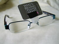 "Foster Grant ""Orwell""Metal Half Frame Reading Glasses RRP Upto £12.50 Only £5.99"