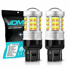 JDM ASTAR 2x 1600LM 7443 7440 Dual Color 36 SMD White Amber Switchback LED Bulbs