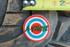 A-Tach Bodyboards Pro Body Boards Target 80's Red Blue Usa V19a Surfing Sticker