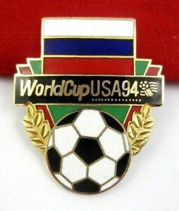 World Cup USA 94 Football Soccer Russia flag Pin Badge