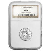 2004 1/4 oz $25 Platinum American Eagle NGC MS 70