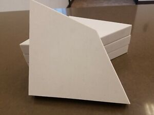 4 x Shower Corner Shelf Granite Quartz White Gray