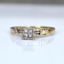 Estate Diamond Wedding Ring - 14k Yellow Gold - Vintage Engagement Ring - Boxed