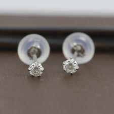 Genuine Platinum 900 Genuine Diamond 6 Claw Studs - 10 Points