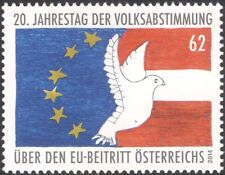 Austria 2014 Entry into European Union 25th/EU/Flags/Dove/Politics 1v (at1166)