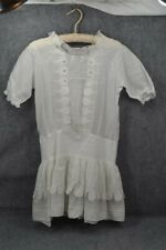 dress Edwardian 1900 child girl white lace lawn sm bust 34 original antique 1900