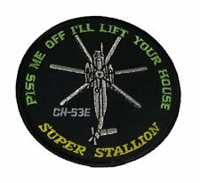 USMC MARINE CORPS SIKORSKY CH-53E SUPER STALLION PATCH HELICOPTER VETERAN WING