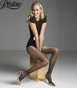 Lurex Metallic Fashion Pantyhose Sheer to Waist 20 Denier Tights by Platino
