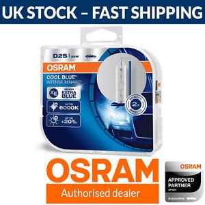 OSRAM Xenarc Cool Blue Intense D2S Up To 6000K Xenon HID Headlight Bulb (Twin)