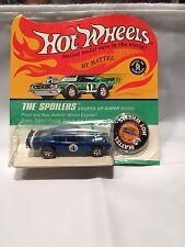 1970 Hot Wheels Redline Blue King Kuda Mint In Blisterpack MOC Spoilers