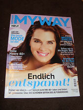 My Way - 03/15 Brooke Shields on Cover + 6 pages Article compete magazine