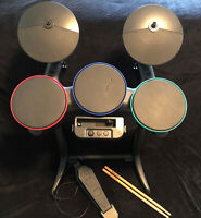 Band Hero Guitar Hero RockBand Drum Pedal Sticks Wii One Drum Not Working AS IS