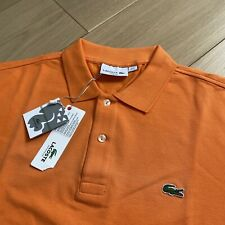 BNWT LACOSTE Polo Shirt | Size 6 (XL) | Orange Slim Fit Short Sleeve Devanlay