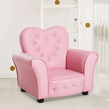 Kids Armchair, PVC-Pink Sofa Chair Seat Armchair Single Soft Bedroom Children's
