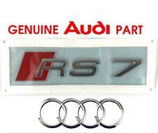 Genuine Audi RS7 rear boot lid hatch badge logo emblem. A7 S LINE OEM  G2