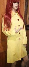 MICHAEL KORS Spring Yellow Cotton & Polyester COAT Size S UK 8/10