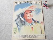 PROGRESS KLEINPLAKAT A4 Mädchen von heute MARTON KELETI, DDR 1954, KINO UNGARN