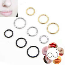 Surgical Steel Septum Clicker Hinge Segment Nose Ear Helix Tragus Ring Hoop UK