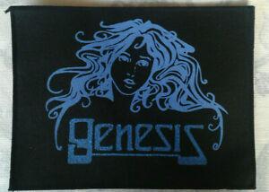 GENESIS printed large glitter effect patch vintage #465 Girl motif