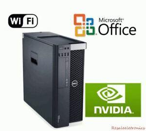 Dell Precision T5600 Xeon 8 Core 3.3GHz 32GB RAM SSD HD NVIDIA Quadro Win 10