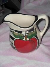 """Apple Creamer, Buckeye Stoneware, Zanesville, Ohio,  5 & 1/2"""" Tall"""
