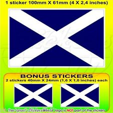 "SCOTLAND Scottish Flag UK (Navy Blue) British 100mm(4"") Sticker Decal x1+2 BONUS"