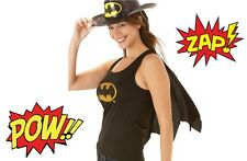 Official BatGirl Top & Cape Fancy Dress Outfit 12-14 Hen Party Bat Girl Ladies