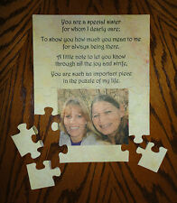 "SISTER, FRIEND, AUNT, COUSIN *Personalized* PHOTO PUZZLE 7 1/2"" x 9 1/2"""