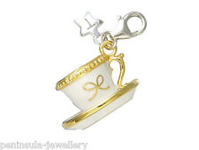 Tingle Tea Cup Sterling Silver clip on Charm with Gift Box and Bag SCH32