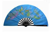 Chinese Kung Fu Tai Chi Wushu martial art Dance Dragon & Phoenix Sky Blue  Fan