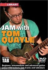 JAM WITH TOM QUAYLE Learn to Play Guitar Lick Library ROCK DVD & TAB LESSON solo