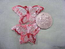 Butterfly Red Organza Motifs Pkt 10 (P7)