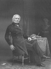 Senator Secretary of State HENRY CLAY Great Pacificator~ Old 1861 Art Print RARE