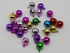 100 Mixed Colors JINGLE BELLS~Christmas Bell~Beads Charms 6mm For Craft